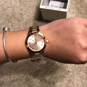 Michael Kors Accessories - New in Box Michael Kors Rose Gold Watch